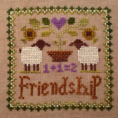 Friendship (Little Sheep Virtues) 100% handspun wool thread pack - why not stitch your sheep with wool?