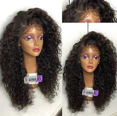 Brazilian soft curly full/front lace wig Human Hair baby hair bleached knots #RemeeHi #FullWig