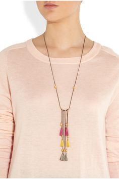 Isabel Marant|Tasselled leather necklace |NET-A-PORTER.COM