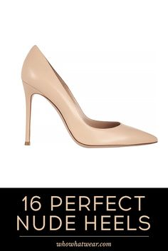 16 Chic Nude Heels to Shop Now! #shoes #heels