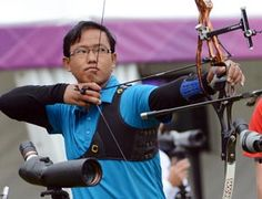 The Indian men's archery team was knocked out of the Olympic Games after  losing to Japan in a tense pre-quarterfinal shoot-off at the Lord's  Cricket Ground on Saturday.