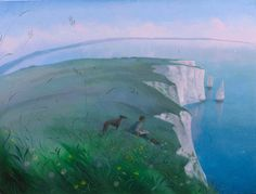 View Sketching on the Cliffs - The Pinnacles by Nicholas Hely Hutchinson on artnet. Browse more artworks Nicholas Hely Hutchinson from Portland Gallery. Greyhound Art, Naive Art, Landscape Art, Landscape Paintings, Art Pages, Whippet, Buy Art, Countryside, Graphic Art