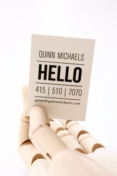 Calling cards are always in style. Quinn Letterpress Calling Cards  Set of 50 by inhauspress on Etsy, $75.00