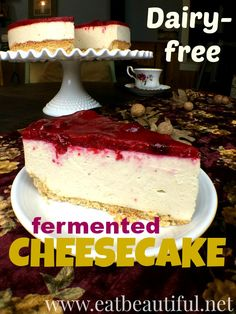 Dairy-free Fermented Cheesecake has an enthusiastic place in the healthy home's dessert arsenal! Although this recipe is technically vegan, it is also great for traditional food enthusiasts including an incredibly fun fermentation process, using sprouted nuts, being mindful of phytates and proper food preparation for gentle, effective digestion.