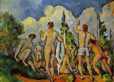 Los bañistas de Paul Cézanne. Museo National Gallery de Londres.