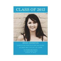 Blue #Graduation Invitations
