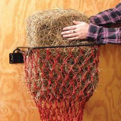 Hay Hoops Wall Hay Feeder with Net - Horse.com