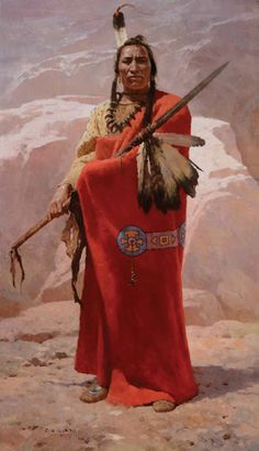 The Guardian of the Bear Spear - North America Native American Warrior, Native American Women, American Indian Art, Native American History, Native American Indians, American Symbols, Cheyenne Indians, Native American Paintings, Native American Pictures