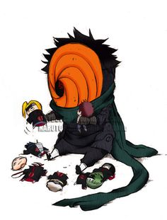 Plot twist.. Turns out fun and loveable Tobi.. Is the leader of the Akatsuki, and someone who tried to destroy the leaf? So no more Tobi..