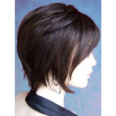 Best Short Straight Hairstyles ❤ liked on Polyvore featuring hair, dark hair and hairstyles