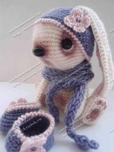 A super cute bunny pattern in Russian