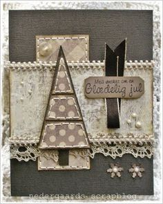 Brown christmas card by lorie