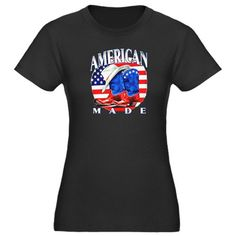 Cool Artsmith, Inc. Women's Fitted T-shirt Dark American Made Country Cowboy Boots and Hat