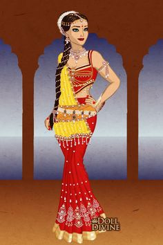 Sati..........wife of Lord Siva ~ by kaurwaki ~ created using the Sari doll maker   DollDivine.com