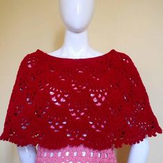 Bea Crochet Poncho   What a bold addition to any outfit! The lace-like design of this crochet poncho is such an elegant addition, too.