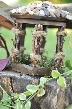 Love the birdhouse makeover for a fairy garden!