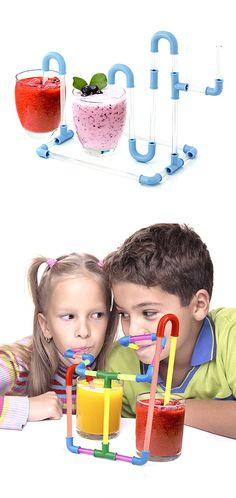 DIY Fun Straw Kit - great activity for kids