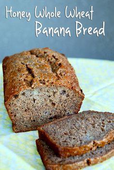Honey Whole Wheat Banana Bread- applesauce/dates/ honey recipe