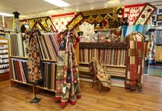 Quilters find green pastures at a well-established shop filled with fabrics and ideas. Quilting, Fabrics, Loft, Magazine, Store, Furniture, Home Decor, Tejidos, Decoration Home