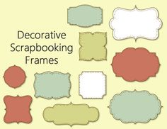 Scrapbooking Frames / Tags Instant Download by ModernMommsie on Etsy