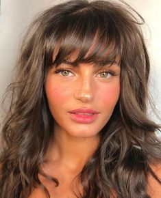 ridiculous medium length haircuts with bangs in 2019 8 Curly Hair Styles, Natural Hair Styles, Haircuts With Bangs, Long Haircuts, Haircut Bangs, Bangs Hairstyle, Pretty Hairstyles, Medium Hairstyles, Long Hairstyles With Fringe