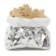 UASHMAMA - Washable Paper Bag in silver