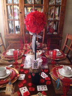 Alice in Wonderland's Red Queen Inspired Tablescape