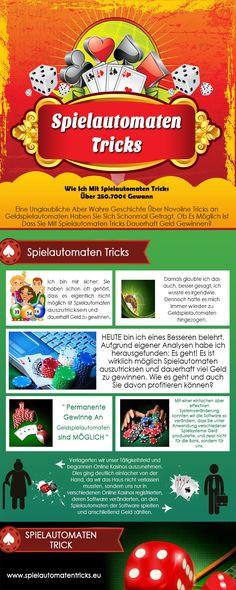 Doch lesen Sie weiter, welche bahnbrechenden Erfahrungen ich als Spieler eines Online Casinos mit diversen Spielautomaten Tricks ( http://www.spielautomatentricks.eu/ )  habe machen können. Folge uns: http://www.quora.com/Spielautomaten-Tricks