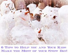 6 Tips to Help you and Your Kids Make the Most of your Snow Day! - The Staten Island family #Parenting #SnowDayActivities