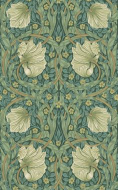 Pimpernel , a feature wallpaper from Morris and Co, featured in the Morris Archive Wallpapers collection.