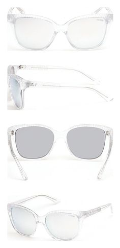 bd97a5242eb GUESS Women s Acetate Soft Cat-Eye Square Sunglasses