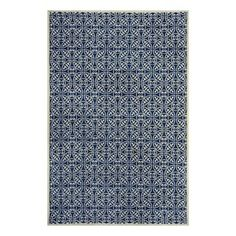 Rectangular Blue Geometric Woven Chenille Area Rug $380 (Common: 9-Ft x 12-Ft; Actual: 108-in x 144-in)