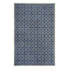 Maysburg Navy Rectangular Indoor Woven Area Rug (Common: 8 x 10; Actual: 96-in W x 120-in L)