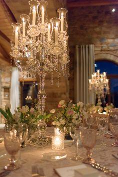 Luxury wedding setup with crystal candelabras Wedding Set Up, Sparkle Wedding, Crystal Wedding, Plan Your Wedding, Luxury Wedding, Wedding Reception, Wedding Ceiling Decorations, Table Decorations, Crystal Candelabra
