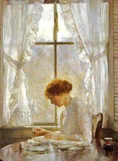 Joseph Rodefer DeCamp (1858 – 1923) Sewing