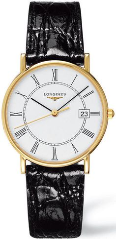Longines Watch Presence Mens #bezel-fixed #bracelet-strap-leather #brand-longines #case-material-yellow-gold #case-width-34mm #date-yes #delivery-timescale-call-us #dial-colour-white #gender-mens #luxury #movement-quartz-battery #new-product-yes #official-stockist-for-longines-watches #packaging-longines-watch-packaging #style-dress #subcat-la-grande-classique-de-longines #supplier-model-no-l4-743-6-11-0 #warranty-longines-official-2-year-guarantee #water-resistant-30m
