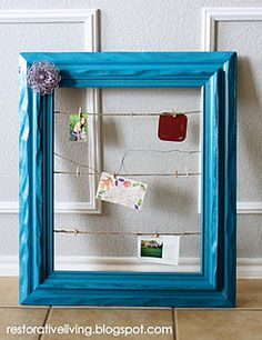 Framed Photo/Message Board