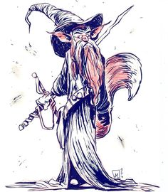 Foxy Wizard Warrior Thank you for your likes and comments. Good night.  #fox #wizard #warrior #sword #foxeswithswords #spectacles #pentel #modmypentel #brushwork