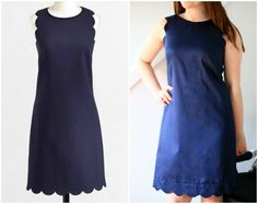 Create / Enjoy: An awesome knock-off: DIY J.Crew Factory scalloped shift dress tutorial!