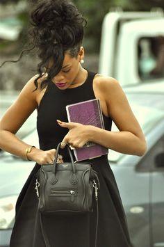 #riri #rihanna #blackdress #cloe