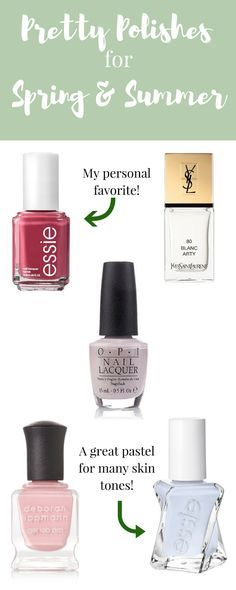 Pretty Polishes For Spring And Summer  - http://www.feistygreenpolkadot.com/2017/02/pretty-polishes-for-spring-and-summer.html