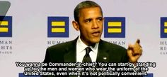 President Barack Obama criticizes Republican silence on booing of a soldier who is gay.