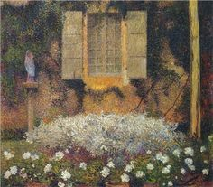 ❀ Blooming Brushwork ❀ - garden and still life flower paintings - The Window to the Garden - Henri Martin