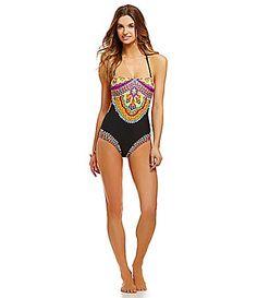 bdfbedefdc Trina Turk Nuevo Sol Bandeau OnePiece Swimsuit  Dillards Bandeau One Piece  Swimsuit