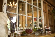 Some of the dessert bar included chocolate covered berries and cherries. Barn wedding at Sidetrack Distillery in Kent, WA. Deer Wedding, Dessert Bars, Distillery, Chocolate Covered, Cherries, Special Day, Ladder Decor, Lazy, River