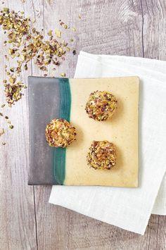 Bonbon di zucca, caprino e pistacchi