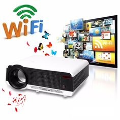 412.32$  Buy now - http://ali497.worldwells.pw/go.php?t=32694753468 - LED86 WiFi Full HD 1080P Built-in Android 4.4 RJ45 HDMI USB 3.0 Projector Smart Home Theater Projector 412.32$