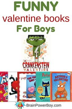 Funny, silly, crabby, non-pink Valentine books to get boys laughing.