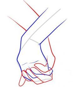 How to Draw Holding Hands, Step by Step, Hands, People, FREE Online Drawing…