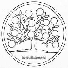 Tree of Life Mat [#203] - $25.00 : Black Sheep Wool Designs ...